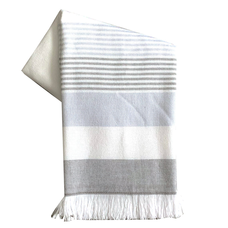 Tea Towel - Dunroven House Terry Cloth Striped Fringe Towel