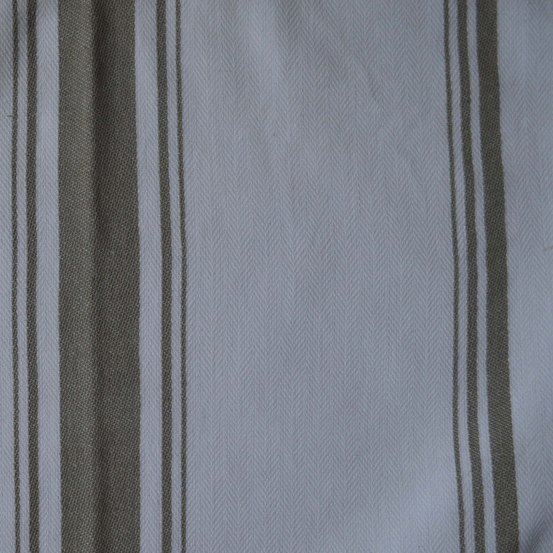 Tea Towel - Dunroven House Taupe Herringbone Weave Stripe