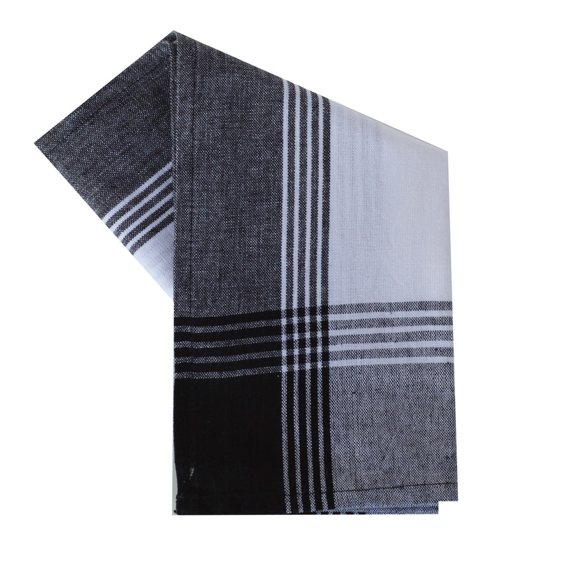 Variety Towel Set - Black and White Set of 4