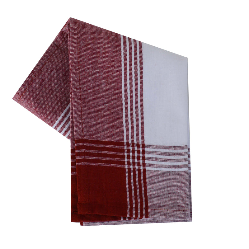 Variety Towel Set - Red and White Set of 4