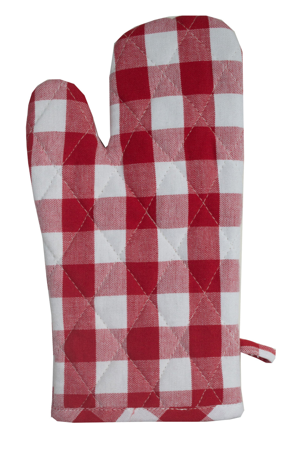 Dunroven House Buffalo Check on White Oven Mitt