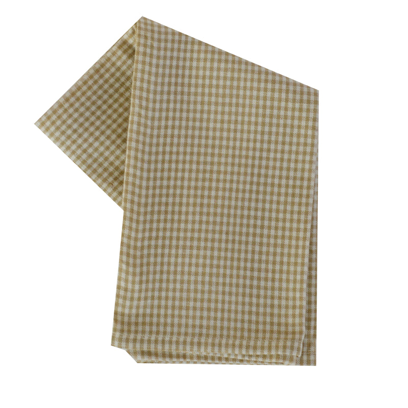 Tea Towel - Dunroven House Mini Check on Cream