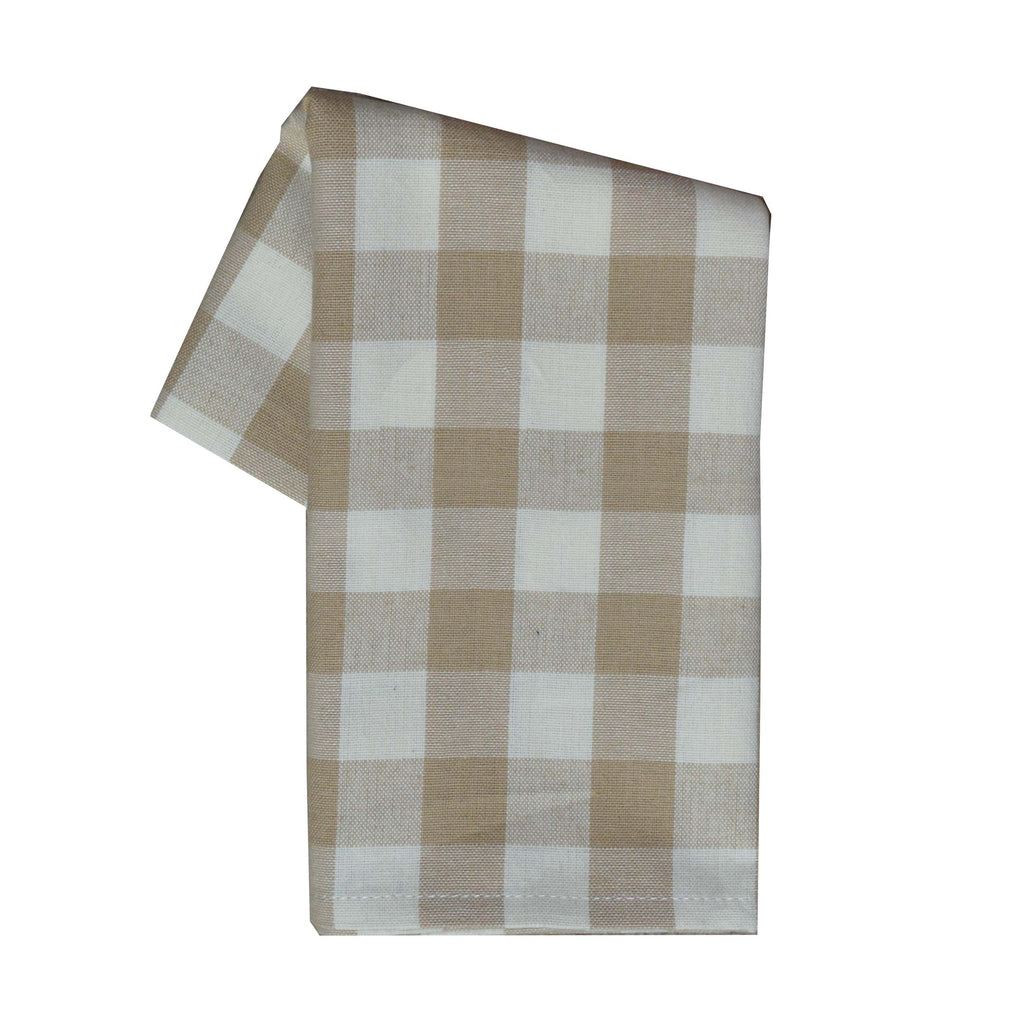 Tea Towel - Dunroven House Neutral Buffalo Check