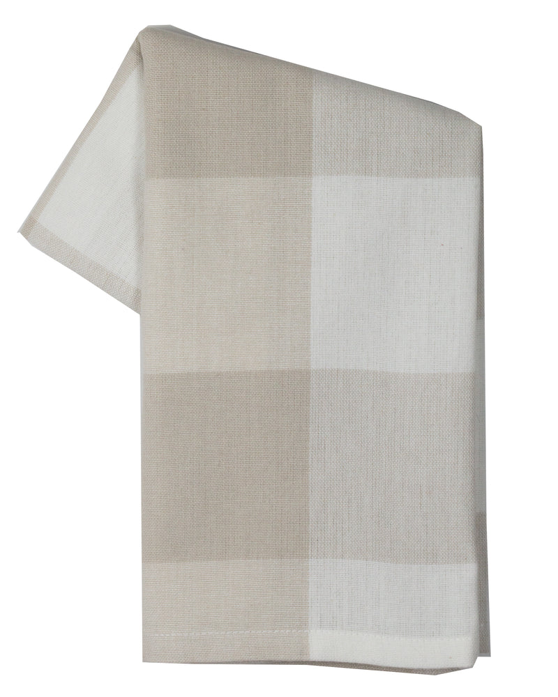 Tea Towel - Dunroven House Large Farmhouse Check on White