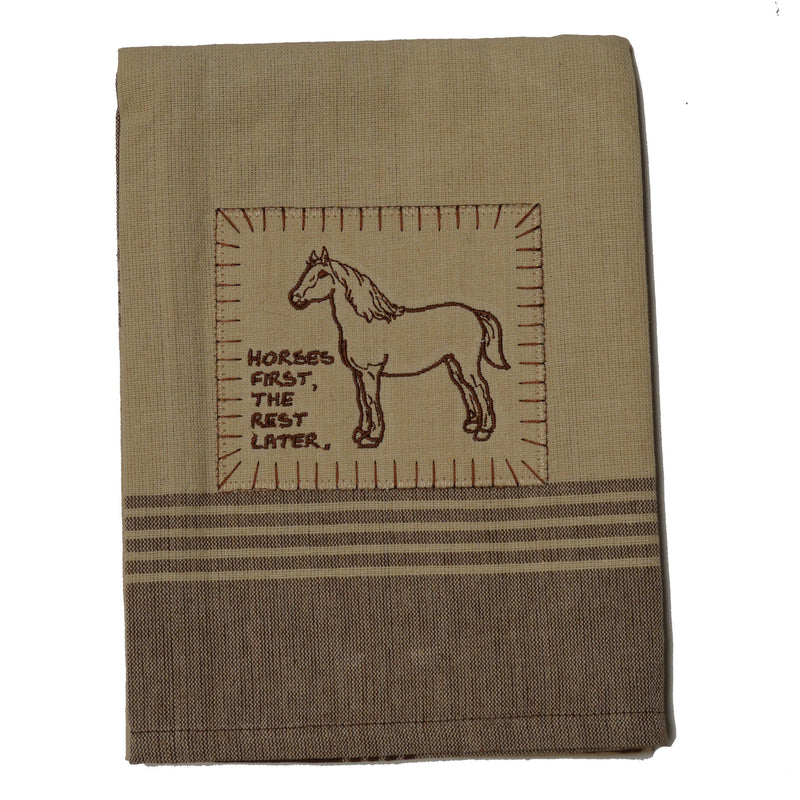 Tea Towel - Farm Animal Appliqué
