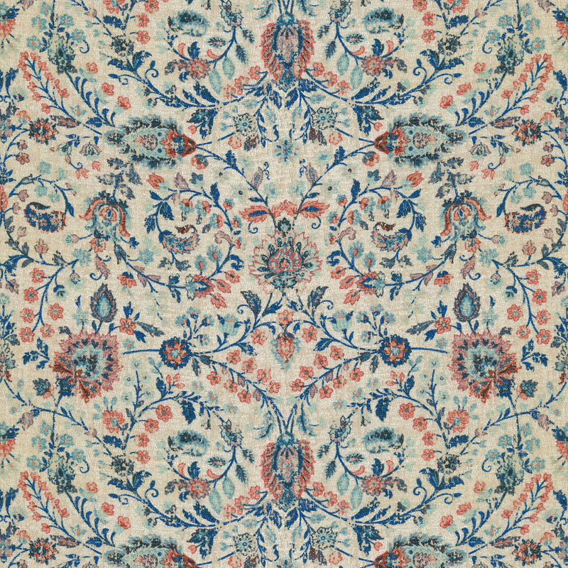 P/K Lifestyles Ancient Arabesque - Lapis 409142 Upholstery Fabric