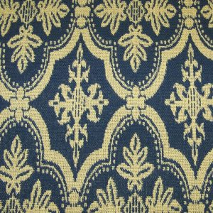 *Discontinued* Antique Star Black/Mustard Upholstery Fabric