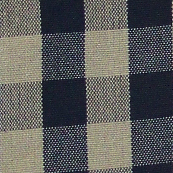 Daphne-Black/Eggshell Fabric Swatch