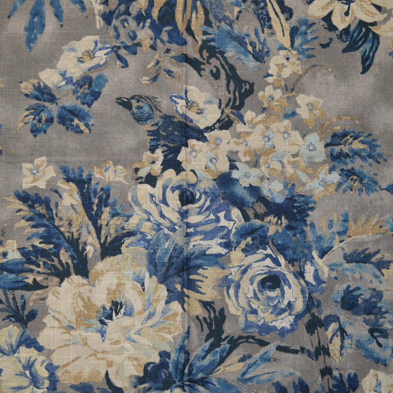 Waverly - Leaf Storm Indigo 679481 Upholstery Fabric