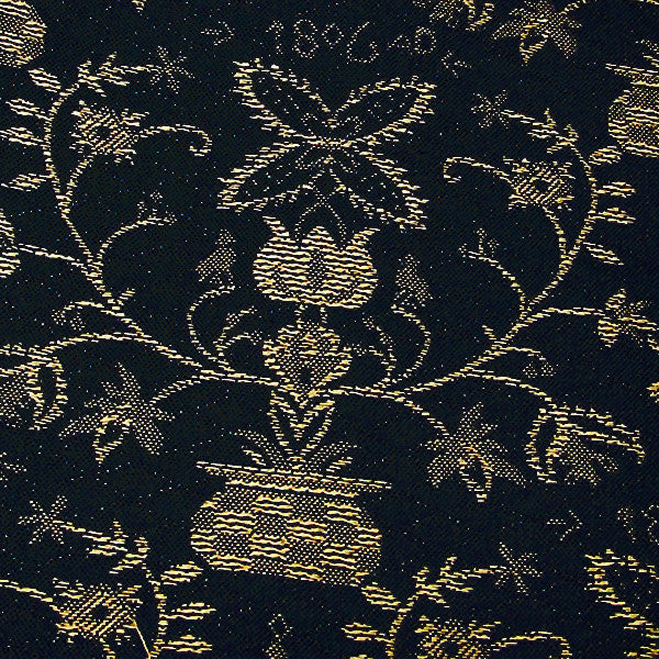 New Hope Caroline-Black/Mustard Upholstery Fabric