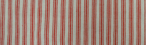 Toweling Fabric - Ticking Stripe Red/White