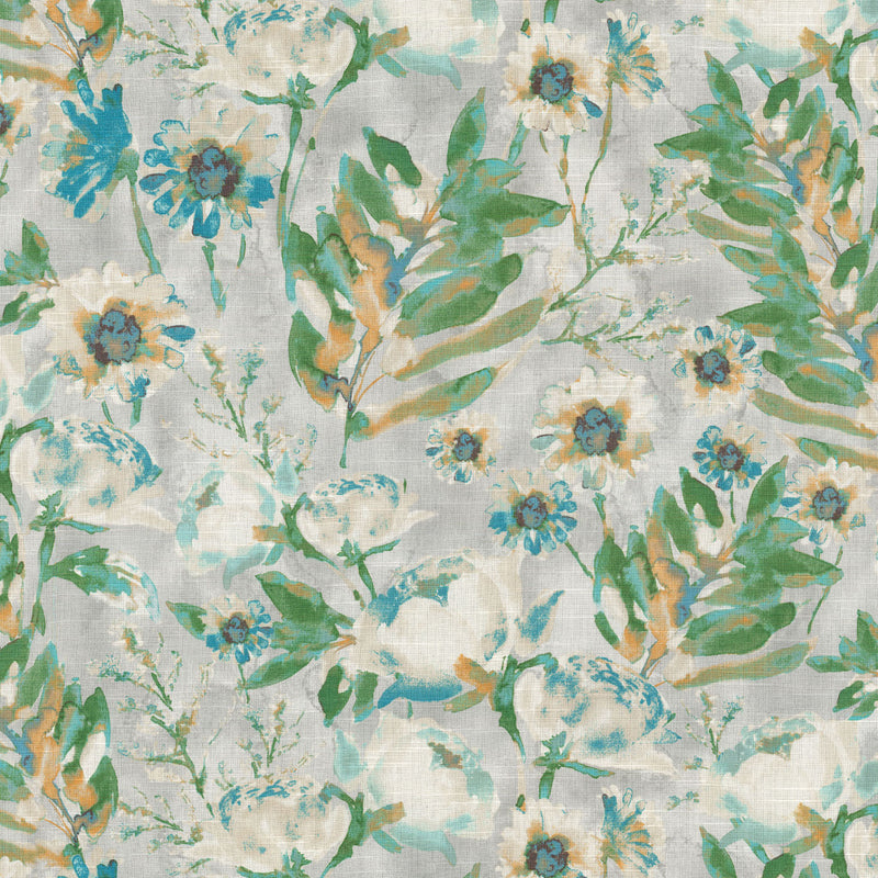 Kelly Ripa Home Flower Mania - Seaglass 550412 Upholstery Fabric