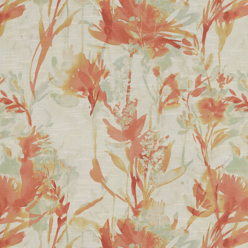 P/K Lifestyles Flowery Spray - Mango 408600 Fabric Swatch