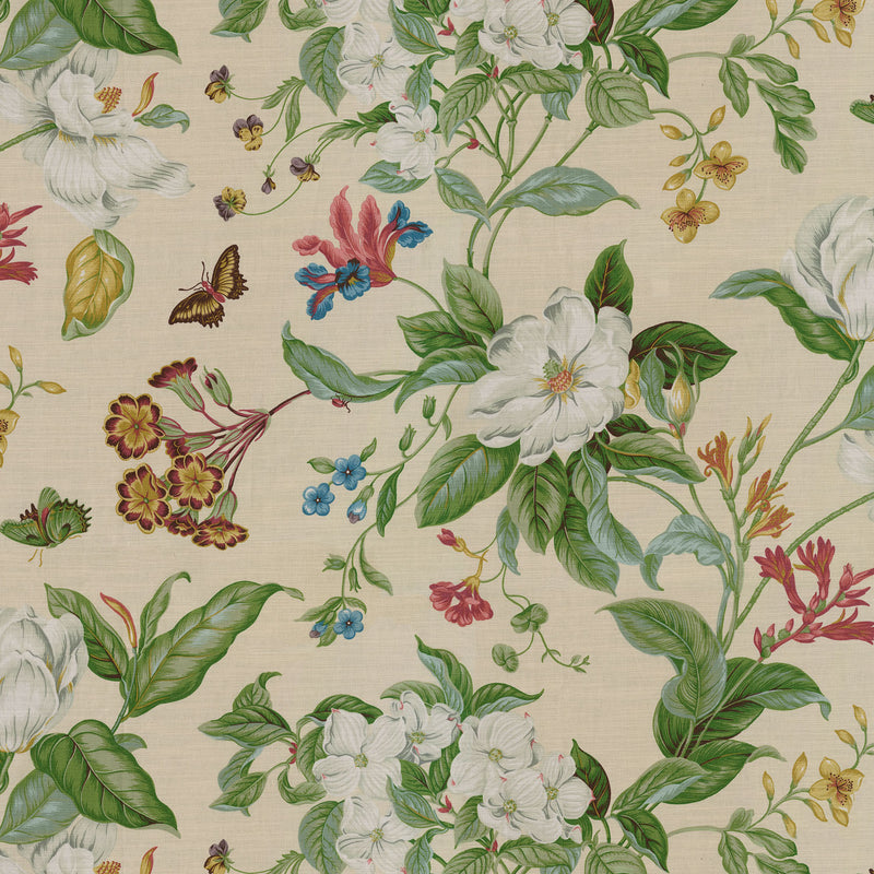 Williamsburg Garden Images - Creme 750671 Upholstery Fabric