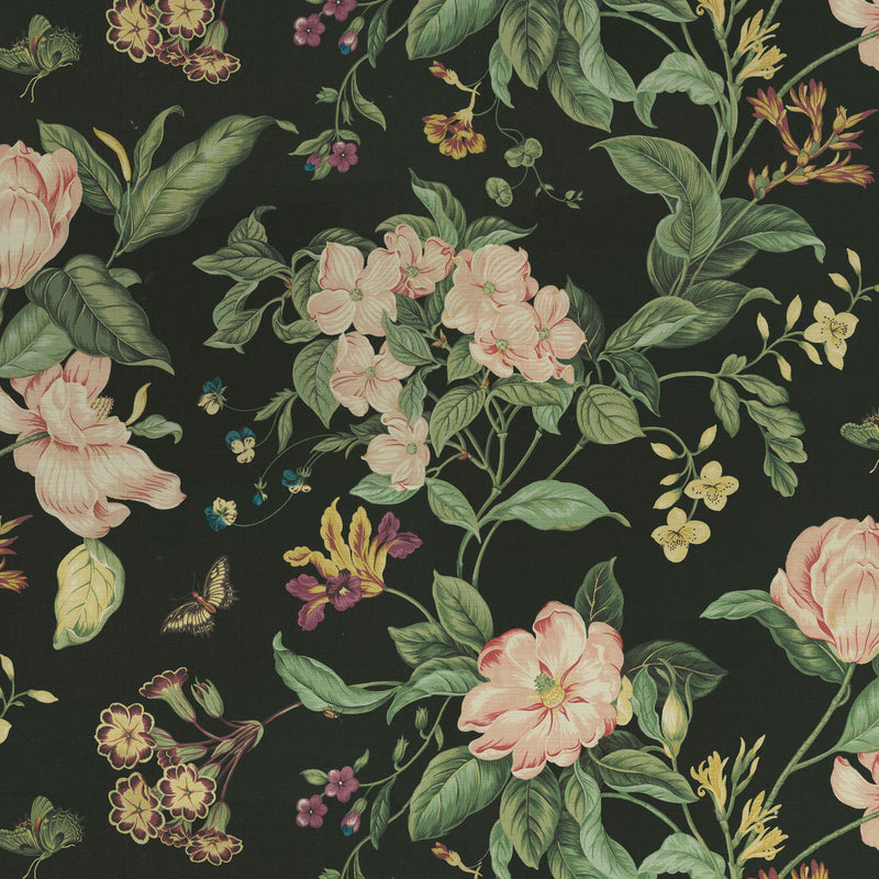 Williamsburg Garden Images - Noir 750672 Fabric Swatch