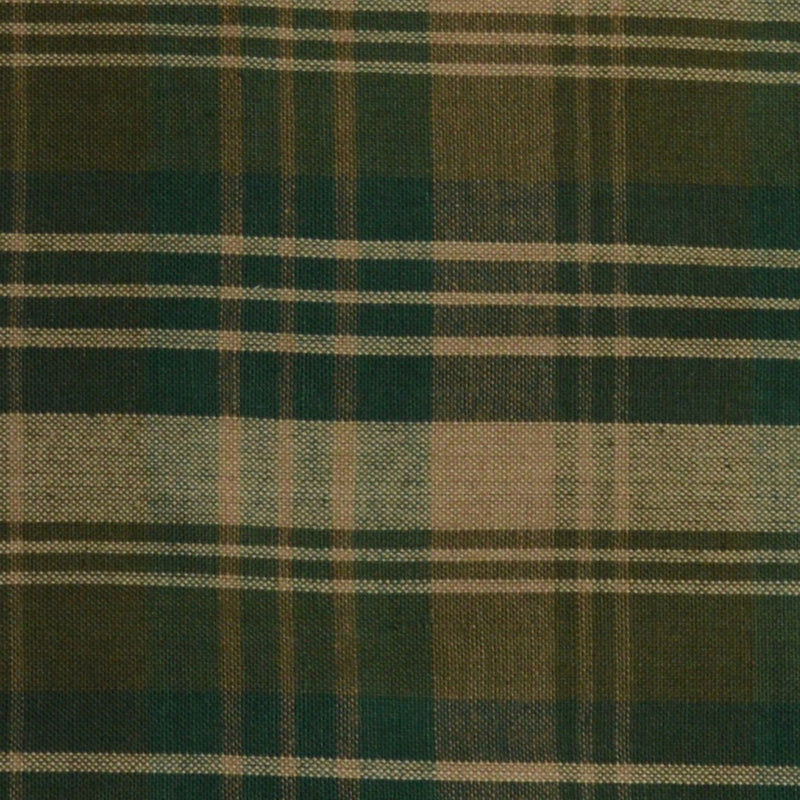 Tri Plaid Print Homespun Fabric Swatch