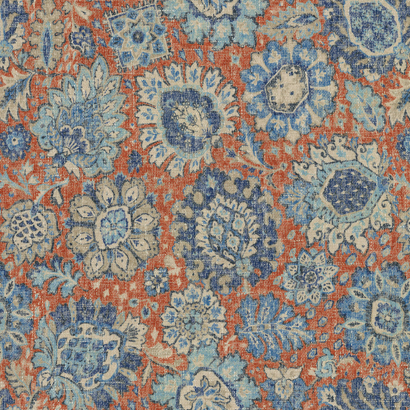 P/K Lifestyles Heriz Medallions - Federal 409320 Upholstery Fabric