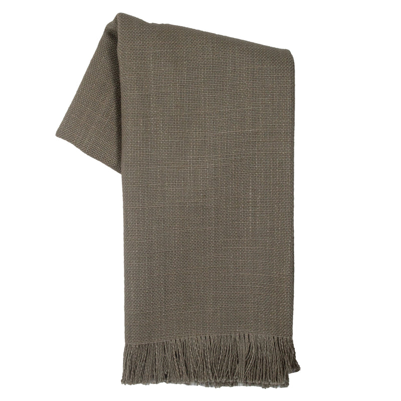 Tea Towel - Dunroven House Slub Texture Solid Frayed Towel
