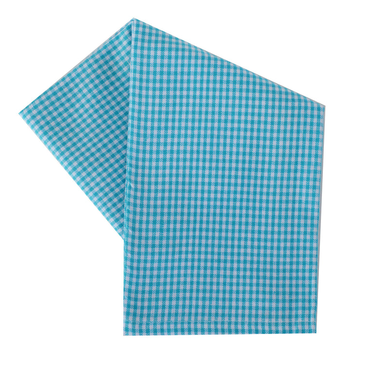 Tea Towel - Dunroven House Mini Check on White
