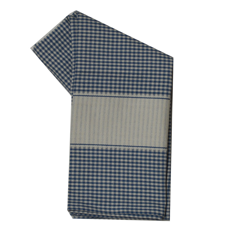 Tea Towel - Dunroven House Mini Check with Blank Band