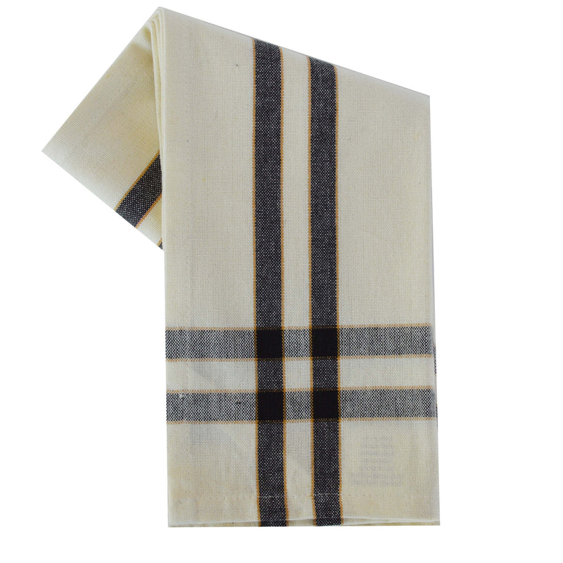 Tea Towel - Dunroven House Two Stripe Border
