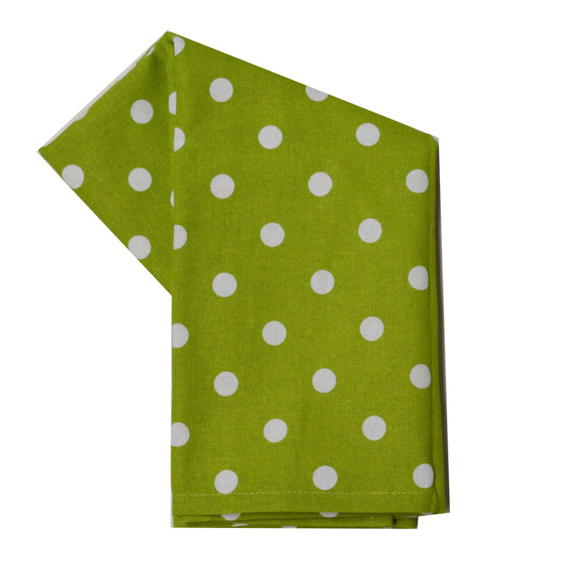 Christmas Seasonal Towel Set of 2 - Bright Red and Lime Green Polka Dot