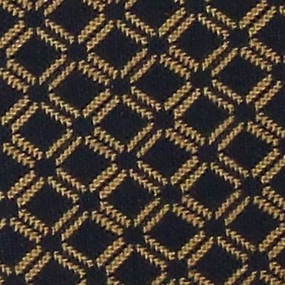 *Discontinued* Lattice Black/Mustard Upholstery Fabric
