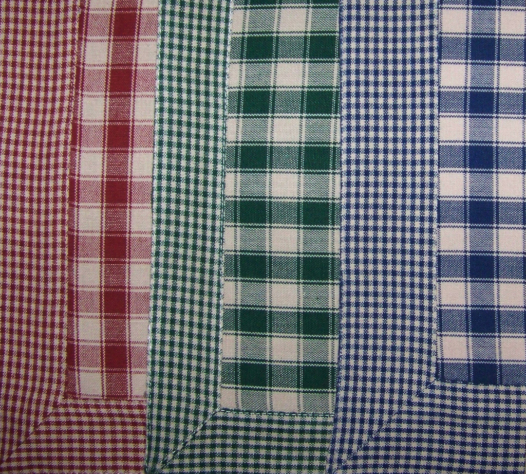 Dunroven House Bordered Check Flat Weave Place Mats Set of 4