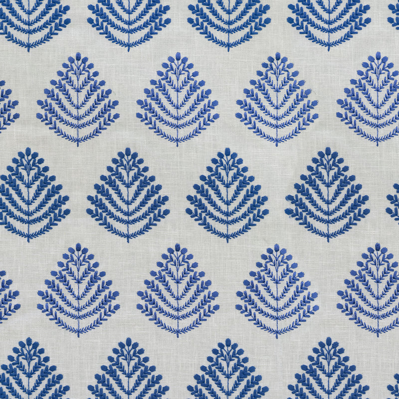 P/K Lifestyles Royal Fern Embroidery - Capri 408840 Upholstery Fabric