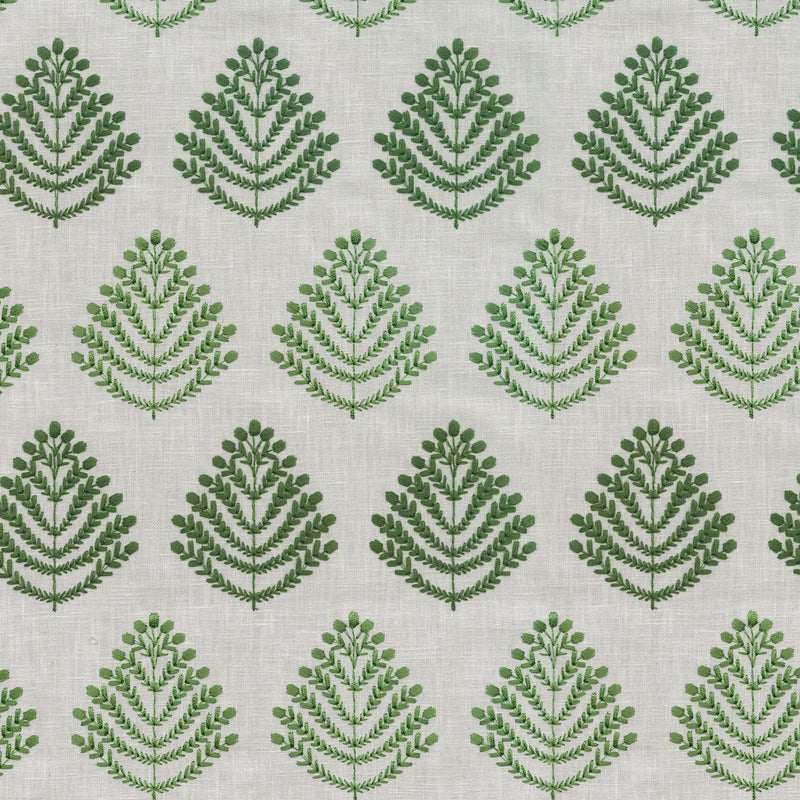 P/K Lifestyles Royal Fern Embroidery - Leaf 408841 Fabric Swatch