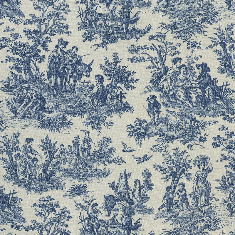 Waverly Rustic Life - Indigo 682040 Fabric Swatch