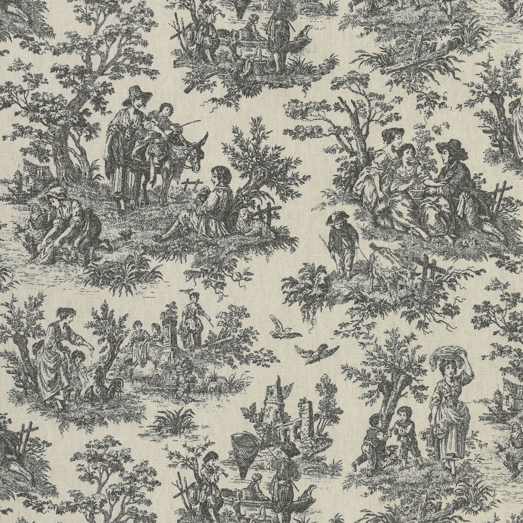 Waverly Rustic Life - Noir 682041 Upholstery Fabric