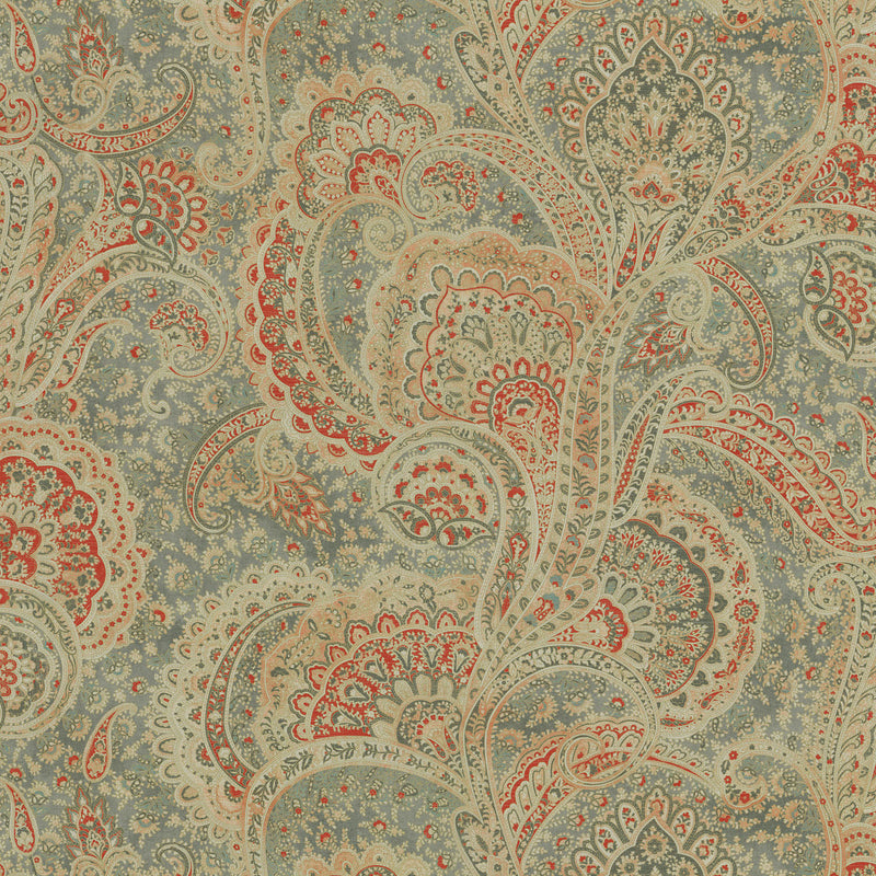 P/K Lifestyles Sultan's Paisley - Ember 409261 Fabric Swatch