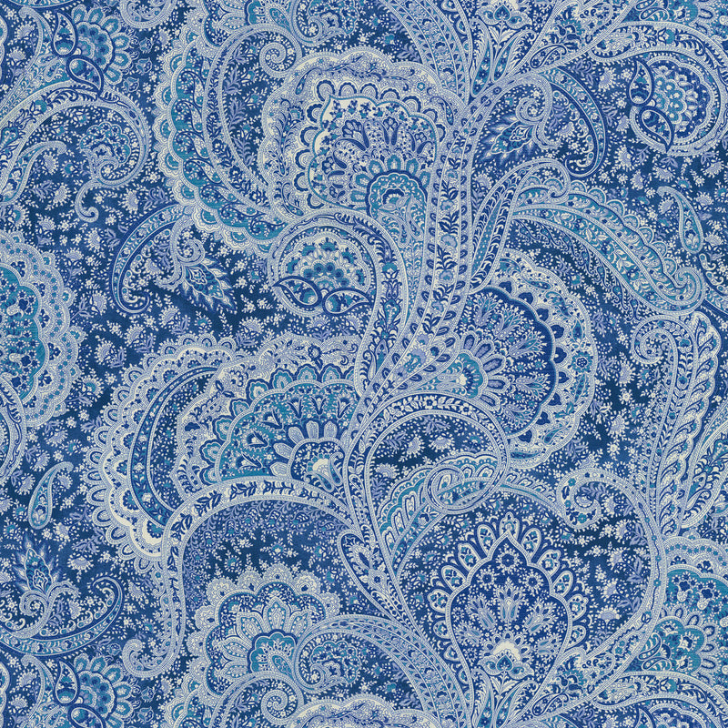 P/K Lifestyles Sultan's Paisley - Lapis 409262 Upholstery Fabric