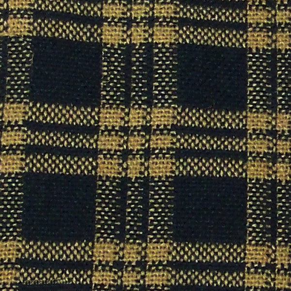 New Hope Sturbridge Black/Mustard Upholstery Fabric