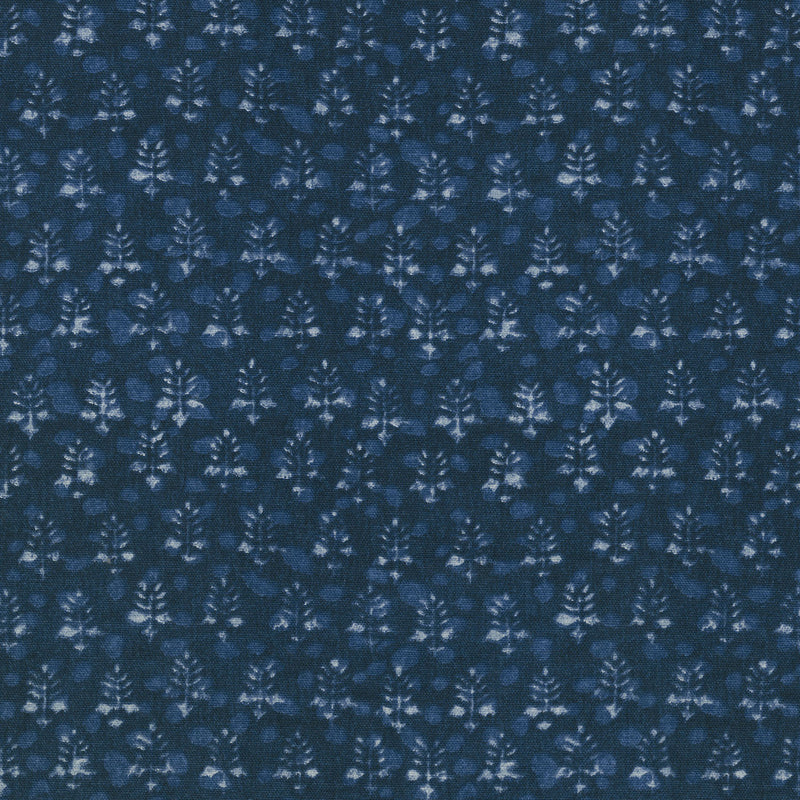 Waverly Twig Bandeau - Indigo 682050 Fabric Swatch