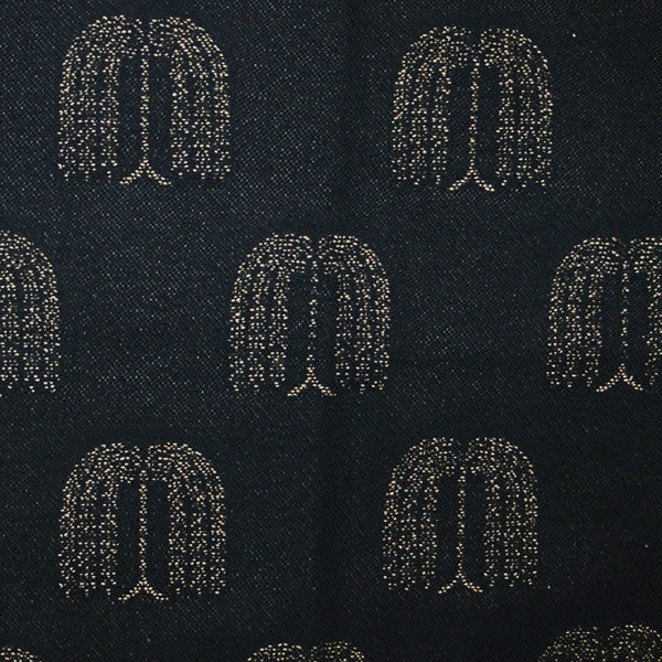 Willow-Black/Mustard Upholstery Fabric