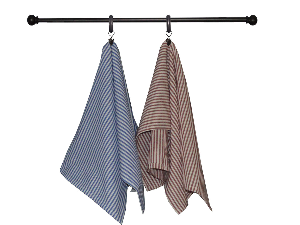 Tea Towel - Dunroven House Denim Stripe
