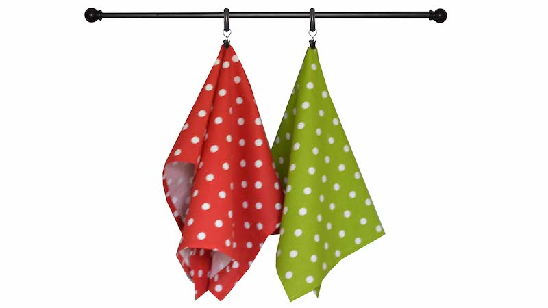 Christmas Seasonal Towel Set of 6 - Red, Sage, and Cream