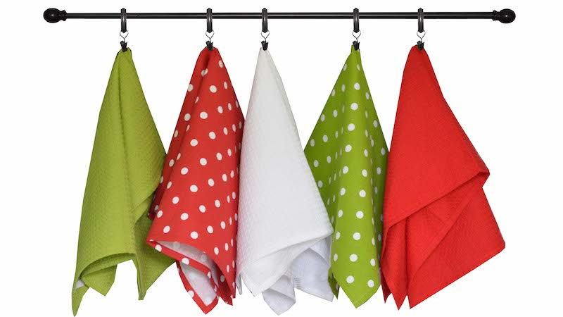 Christmas Seasonal Towel Set of 6 - Red and Green