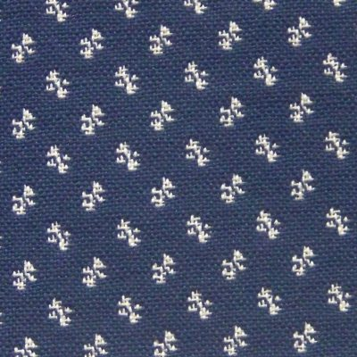 *Discontinued* Clover Navy/Eggshell Upholstery Fabric
