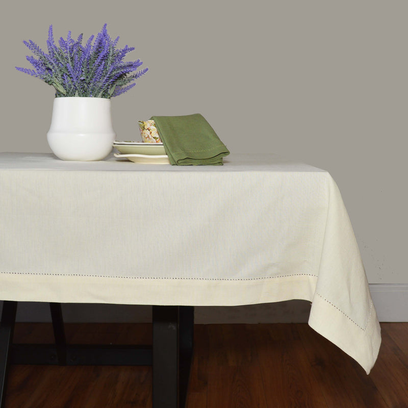 Hemstitched Solid Color Table Cloth