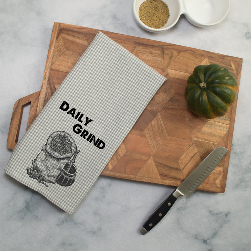 Daily Grind Printed Tea Towel