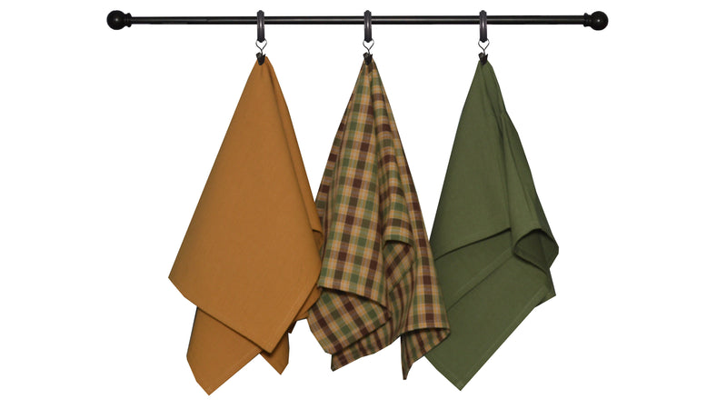 Fall Seasonal Towel Set Plaid Multi Color