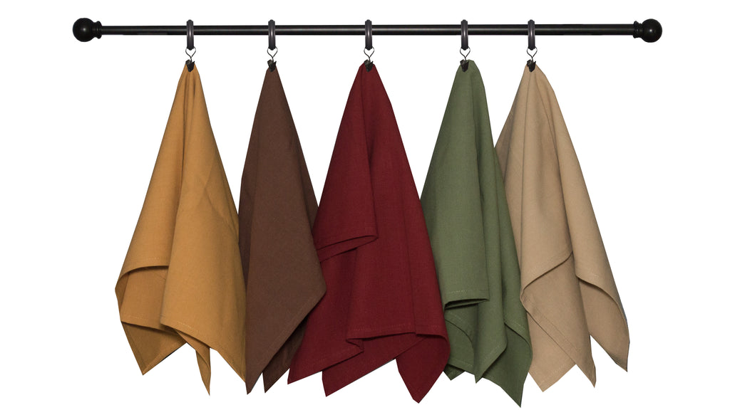 Fall Seasonal Towel Set Plain Weave Solid Variety
