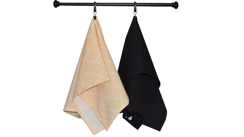Halloween Seasonal Towel Set of 6 - Orange and Black