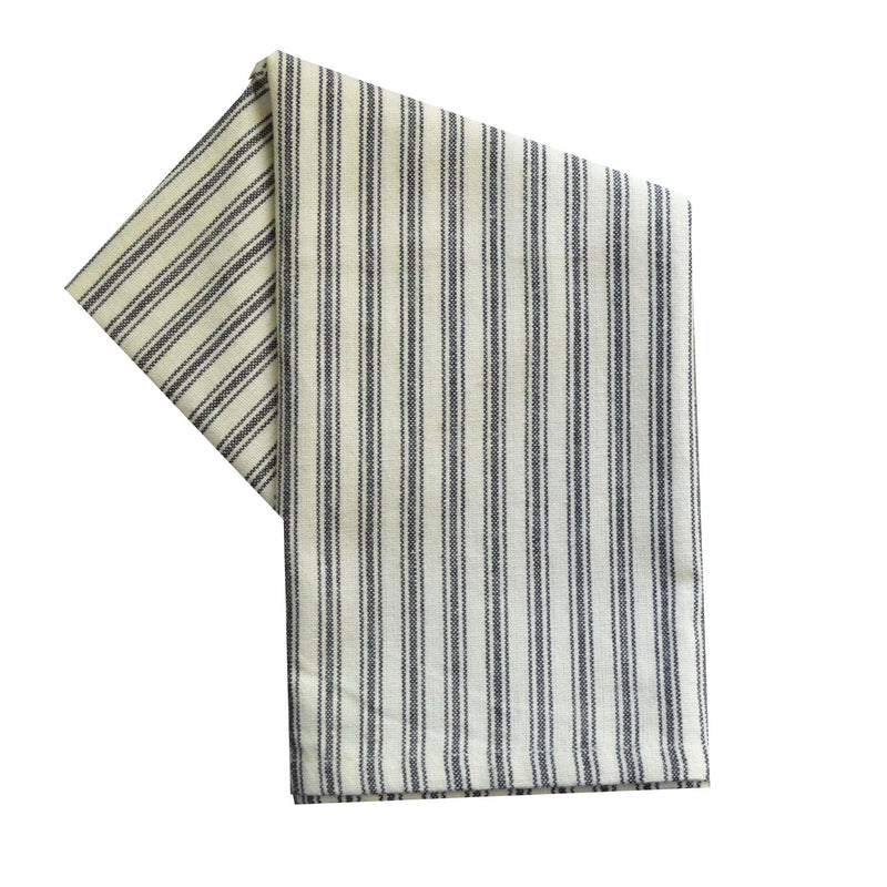 Tea Towel - Dunroven House Ticking Stripe on Cream