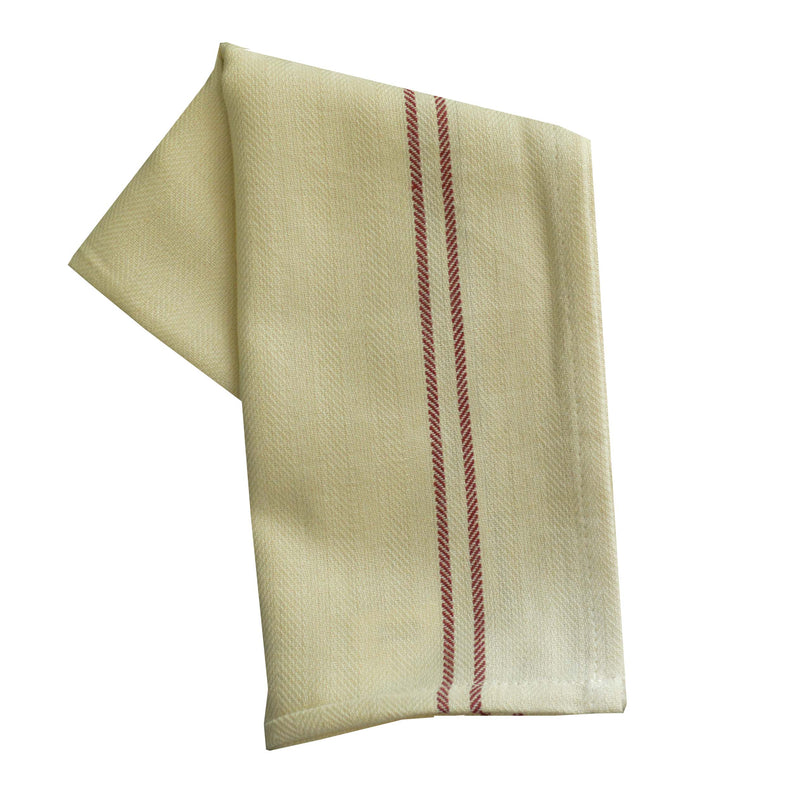 Christmas Seasonal Towel Set of 2 - Red and Green Vintage Stripe