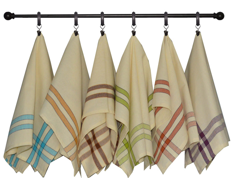 Baronne 3 Stripe Border Towel Set of 4 - Taupe