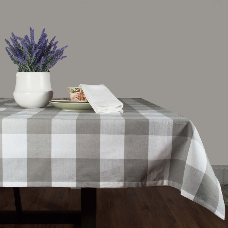Dunroven House Large Farmhouse Check Table Cloth